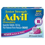 Junior Strength Fever Reducer/Pain Reliever Chewable Tablets GrapeGrape Flavored