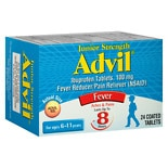 Advil Junior Strength Fever Reducer/Pain Reliever Coated Tablets Junior Strength