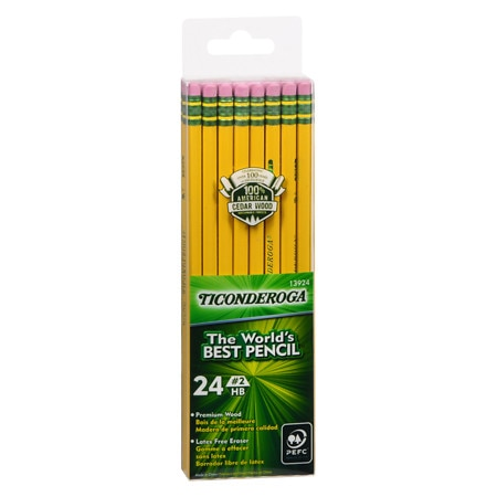 Dixon Ticonderoga Premium Wood Pencils