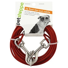 Pet Shoppe Tie-Out Cable 15 Foot