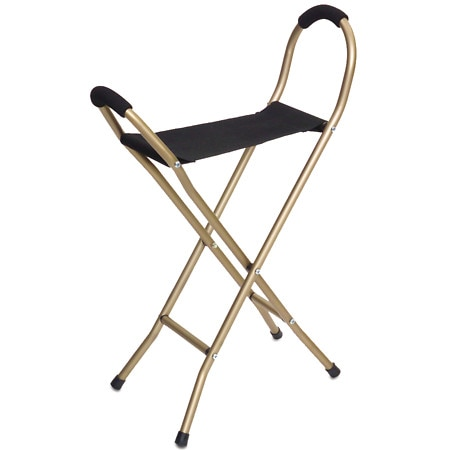 Essential Medical Endurance Four Leg Seat Cane Gold