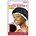Donna Premium Collection Satin Bonnet Size Large Black