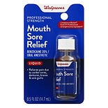 Walgreens Instant Mouth Sore Relief Liquid