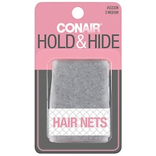 Conair Styling Essentials Hair Nets Brown