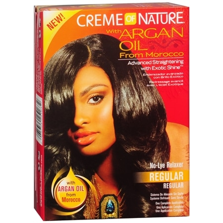 Creme Of Nature Argan Oil No Lye Relaxer Kit Regular