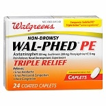 Walgreens Wal-Phed PE Triple Relief Pain Reliever Caplets
