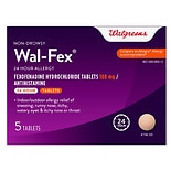 Walgreens Wal-Fex 24 Hour Allergy Tablets 180 mg