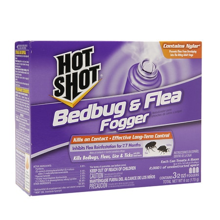 Hot Shot Bedbug & Flea Foggers 3 pk