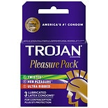 Trojan Pleasure Pack Lubricated Premium Latex Condoms