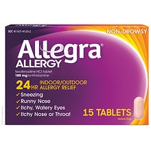 Allegra Allergy 180 mg Tablets