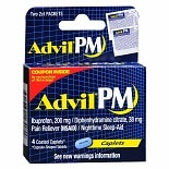 PM Pain Reliever/Nighttime Sleep-Aid Caplets