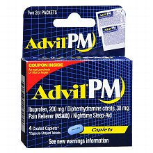 Advil PM Pain Reliever/Nighttime Sleep-Aid Caplets