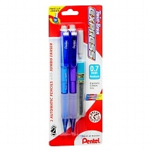 Twist-Erase Express Automatic Pencils with Jumbo Eraser, Medium