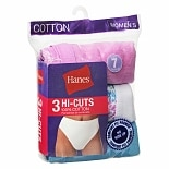 Hanes Women's Cotton Hi-Cuts Size 9