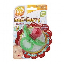 Raz Baby Raz-Berry Silicone Teether for 3+ Months Assorted