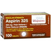 Walgreens Aspirin 325 mg Tablets