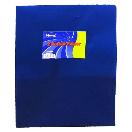 Penway 2 Pocket Plastic Folder Assorted Colors