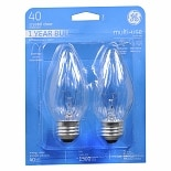 GE Light Bulb Crystal Clear 40 Watt Multi-Use 75341