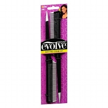 Firstline Evolve Rat Tail Comb Set Black/Silver