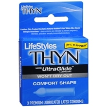 LifeStyles Thyn Premium Lubricated Latex Condoms