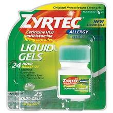 Zyrtec 24 Hour Allergy Liquid Gels
