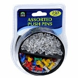 Corner Office Push Pins Assorted Colors