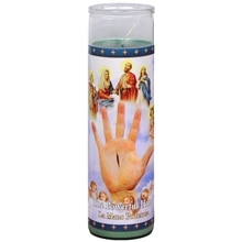 The Powerful Hand 8.25 inch Prayer Candle