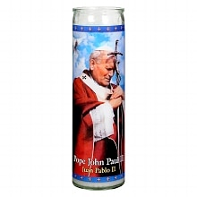 St. Jude Pope John Paul II Prayer Candle 8.25 inch