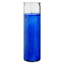 Blue 8.25 inch Prayer Candle