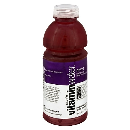 Glaceau Vitaminwater Nutrient Enhanced Beverage 20 oz Bottle Fruit Punch