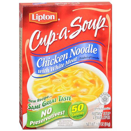 Lipton Cup-a-Soup Instant Soup Mix Chicken Noodle,4 Pack