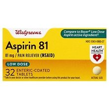 Walgreens Aspirin 81 mg Low Dose Tablets