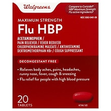 Walgreens Maximum Strength Flu BP Tablets