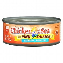 Chicken of the Sea Pink Salmon Chunk Style in Water Skinless Boneless