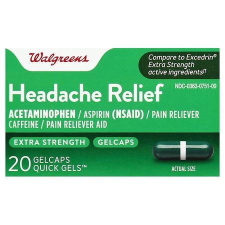 Walgreens Extra Strength Headache Relief Quick Gel Gelcaps