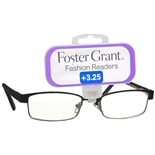 Foster Grant Fashion Readers Plastic Reading Glasses Isla +3.25 Black