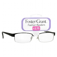 Foster Grant Fashion Readers Metal Reading Glasses Molly +2.75