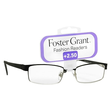 Foster Grant Fashion Readers Metal Reading Glasses Molly +2.50