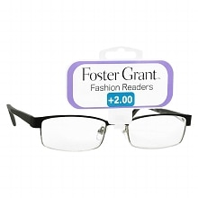 Foster Grant Fashion Readers Metal Reading Glasses Molly +2.00