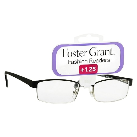 Foster Grant Fashion Readers Metal Reading Glasses Molly +1.25