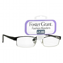 Fashion Readers Metal Reading Glasses Molly +1.00, Black/Silver