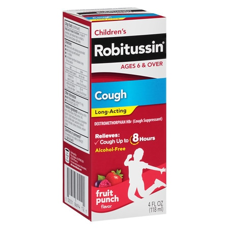 Robitussin Children's Long-Acting Cough Liquid Fruit Punch