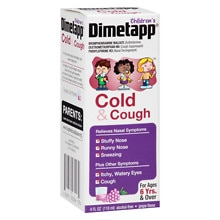 Children's Cold & Cough Liquid Grape, Grape Flavor