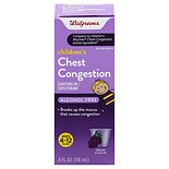 Walgreens Children's Chest Congestion Expectorant Liquid Grape Grape Flavor