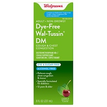 Walgreens Wal-Tussin Adult Cough & Chest Congestion DM Liquid Sugar Free Cherry/Menthol Cherry/Menthol Flavor