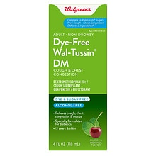 Walgreens Wal-Tussin Cough & Chest Congestion DM Liquid Cherry & Menthol