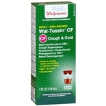 Walgreens Wal-Tussin Adult Cough & Cold CF Liquid Cherry Flavor