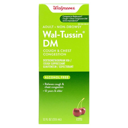 Walgreens Wal-Tussin DM Cough & Chest Congestion Liquid Cherry