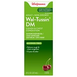 Walgreens Wal-Tussin Cough Suppressant Expectorant Liquid Cherry Flavor