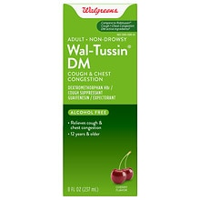 Wal-Tussin Cough Suppressant Expectorant Liquid, Cherry Flavor